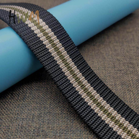 2.3mm Thick Stripe Webbing for Students Belt, Man's Belt