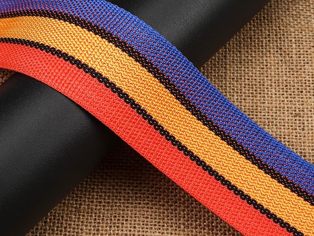 Custom Striped Polypropylene Webbing