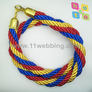 3 Mix Colors Twisted Rope for Crowd Control Post