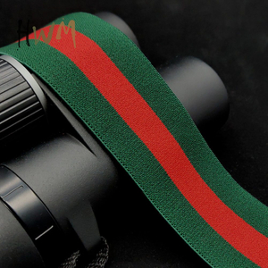 Popular Stripe Polyester Elastic Webbing / Tape / Strap / Belt