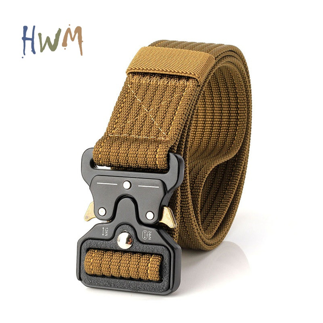 Outdoor Tactical Nylon Belt with Quick Release Cobra Buckle